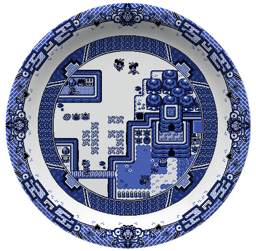 Olly Moss Blue Willow Pattern