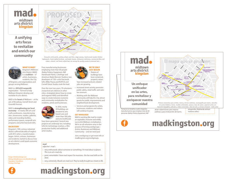 #MADkingston Bilingual Brochure